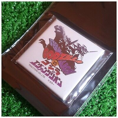 TOHO Godzilla vs Evangelion Can Badge -Shironagasu Works-