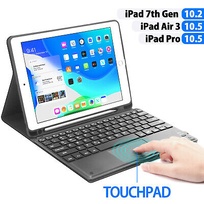 """For iPad 5/6th Gen 9.7"""" Bluetooth Keyboard Case Stand with Touchpad Function"""