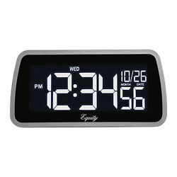 30451 Equity by La Crosse Color-Changing LCD Display Digital Alarm Clock