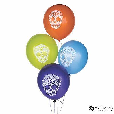 Halloween Decorations Balloons (12 Halloween DAY OF THE DEAD Dia de Los Muertos Party Decorations Latex)