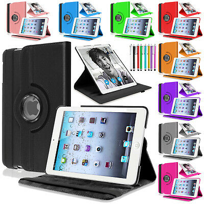 Apple iPad Air 1/2 Generation Mini 1,2,3, Mini 4 Leather Smart Rotate Case Cover 2. Generation Cover
