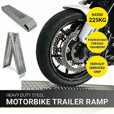 1.8M Bicicleta Plegable Acero Moto Rampa Carga Moto Furgoneta/Camión Cortacésped