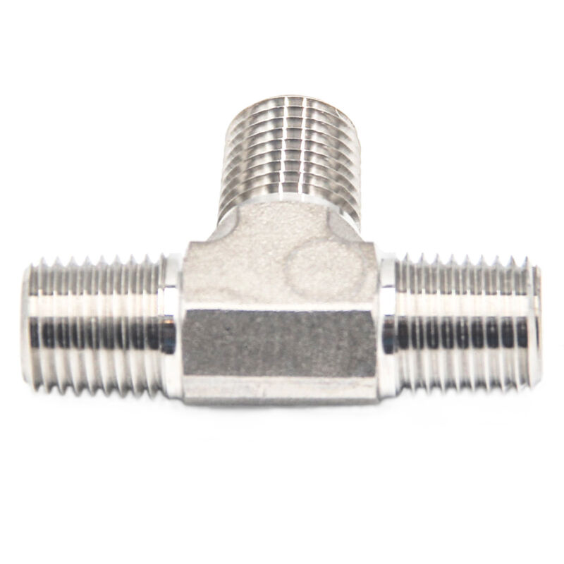 "HFS(R) 1/4"" Npt Tee Fitting - Male Mnpt 3-Way Tee Stainless"