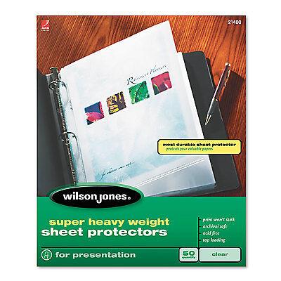 Wilson Jones Top-loading Super Heavy Sheet Protectors Nonglare Finish Letter 50