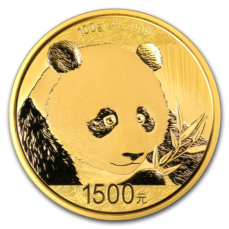 2018 China 100 Gram Gold Panda Proof (w/box & Coa) - Sku#159508