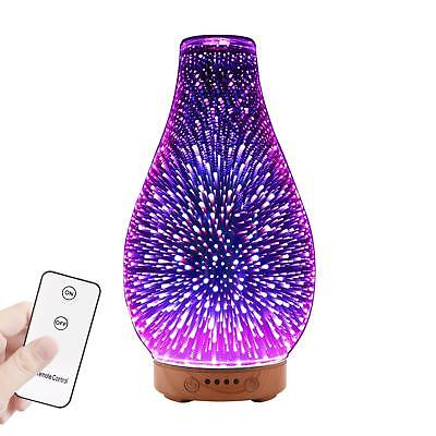 Moko Remote Control 3D Glass Essential Oil Diffuser Aromatherapy Mist Humidifier