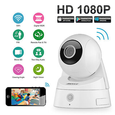 ANNKE 1x 2MP 1080P HD Video Wireless WIFI Security IP Camera PIR Pan/Tilt Remote