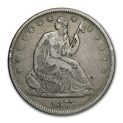 1875 S LIBERTY SEATED HALF DOLLAR XF   SKU 85173