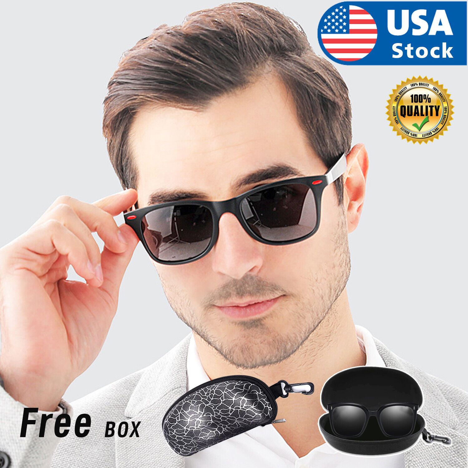Mens Polarized Sunglasses UV400 Outdoor Sports Driving Fishing Glasses Eyewear Clothing, Shoes & Accessories