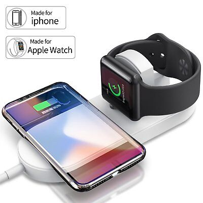 Qi Wireless Charger Charging Pad Charge Station for Apple Watch 2 3 4 iPhone Xs