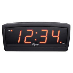 30902 Equity by La Crosse DC Powered 0.9 LED TRUCKERS Digital Alarm Clock