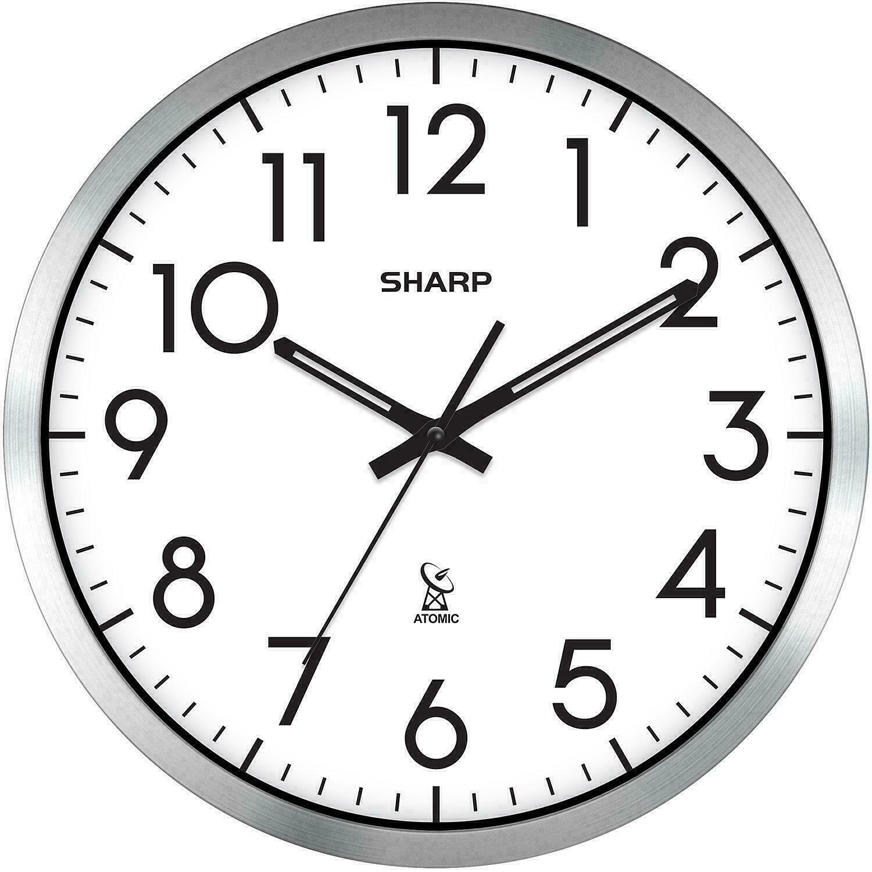analog atomic wall clock self adjusting 14