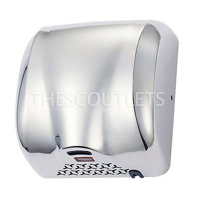 Automatic Commercial Hand Dryer 1800w 90ms Stainless Steel Chrome For Bathroom