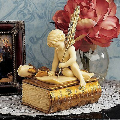 Cupid God of Desire Statues of Angels Cherub Baby Angel Sculpture Statuary Decor