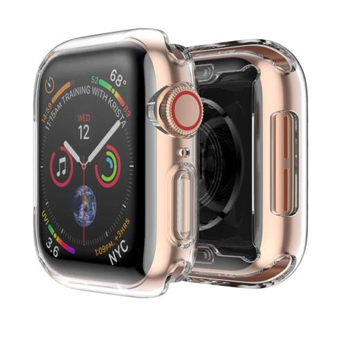 [2 Pack] iWatch Cover Apple Watch Series 4 44mm Clear Case Soft TPU Bumper