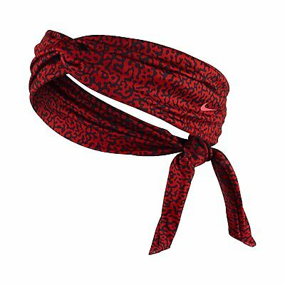 Nike Studio Twist Mezzo Print Head Tie Adult Action Red/Hyper Punch OSFM New