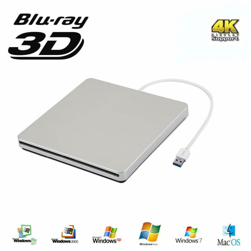 External Blu Ray Drive Usb 3.0 Blu Ray Burner 3D 4K Cd Dvd B