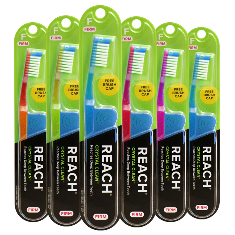 Reach Crystal Clean Toothbrush Firm Bristles 1 Count Pack Of