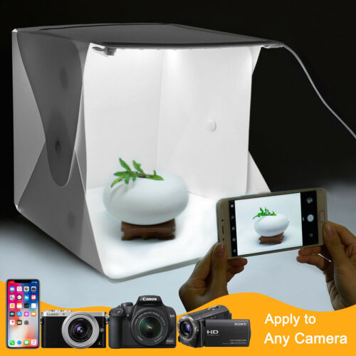 Photo Box Portable Light Room Photography Lighting LED Mini Cube Box Backdrop