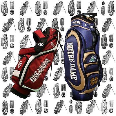 NEW Team Golf Medalist Cart / Nassau Stand Bag NCAA - Pick Y