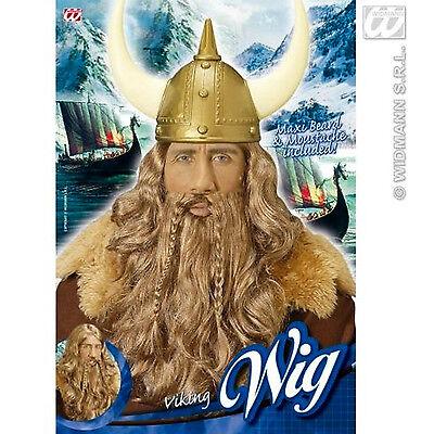 Neu Viking Perücke Mit Maxi Bart Schnurrbart für - Kostüme Mit Schnurrbart