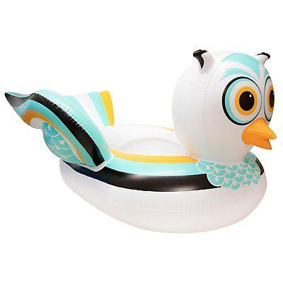 Swimline 90721M Swimming Pool Lake Giant Rideable Owl Inflatable Float, White](Swim Floats)
