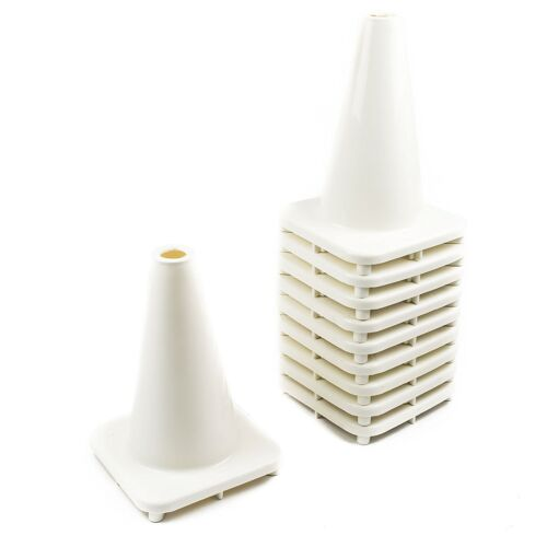 """RK PVC Traffic Safety Cone, 12"""" Inch Construction Safety Cones -White"""