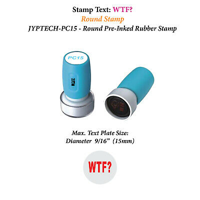 Wtf - Pc15 Pre-inked Rubber Stamp Red Ink