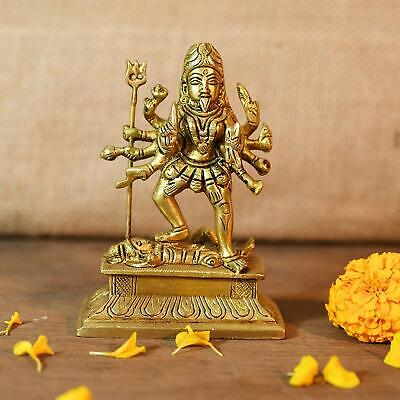Used, Brass Kali Maa Hindu Goddess Religious Statue Idol Sculpture(Size: 4 x 3 Inches) for sale  Shipping to Canada