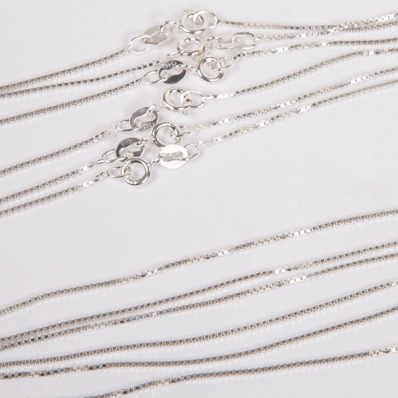 """30 pcs 925 Sterling Silver Italian 1mm BOX 015 CHAIN NECKLACES Lot 16"""" 18"""" 20"""""""