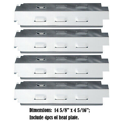 Stainless Steel Heat Plates Replacement Charbroil, Kenmore, Gas Grill, 4pack