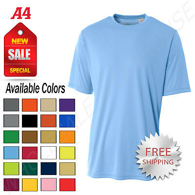 Dri Fit Shirt - NEW A4 Men's Dri-Fit Workout Running Cooling Performance T-Shirt M-N3142