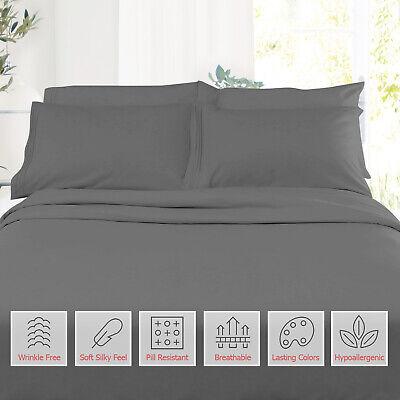 Double Brushed Soft Microfiber Hotel Style Bed Sheets, Deep Pocket Sheet Set