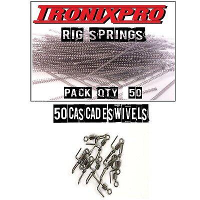 50 Tronixpro Rig Springs - SRT Springs + 50 cascade swivels sea fishing tackle
