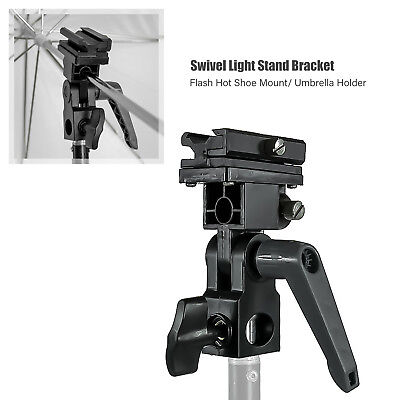 B Type Flash Bracket Umbrella Holder Swivel Light Stand Adapter Cold-shoe Flash