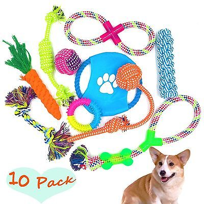 Dog Rope Toys 10 Set Pack Variety Pet Toy For Medium to Small Doggie FIRIK