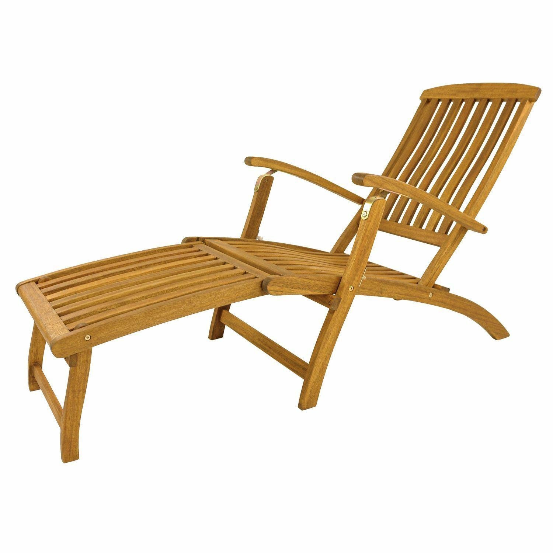 Sonnenliege Gartenliege Relaxliege Deck Chair Liegestuhl Gartenmöbel Holz Akazie