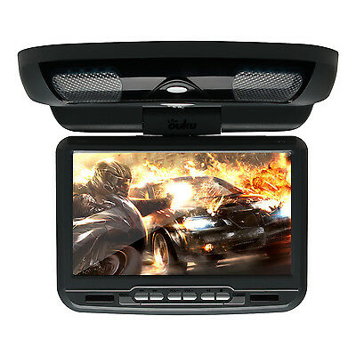 "9"" LCD Auto Car Flip Down Overhead Roof Monitor SD DVD Player Game TV IR Remote"
