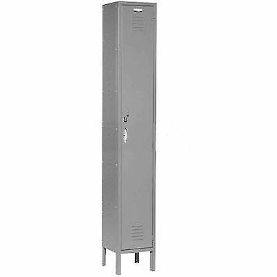 Single Tier Locker 12x15x72 1 Door Ready To Assemble Gray