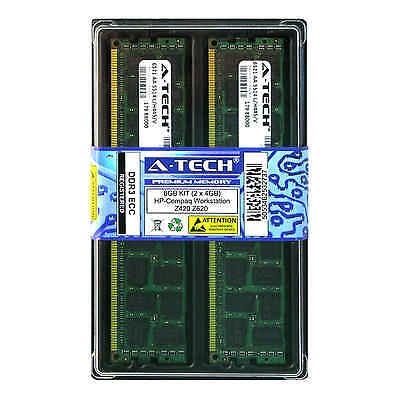 8GB KIT 2 x 4GB HP Compaq Workstation Z420 Z620 Z820 B120 PC3-8500 Ram Memory