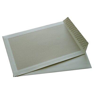 15 Briefumschläge für Bewerbungen B4 Weiß mit Papprückwand und Haftklebung
