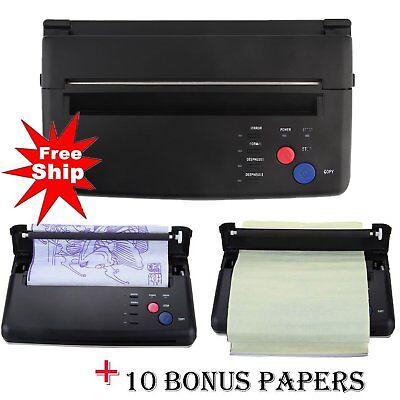 New! Tattoo Stencil Transfer Flash Copier Thermal Hectograph Printer Machine TO