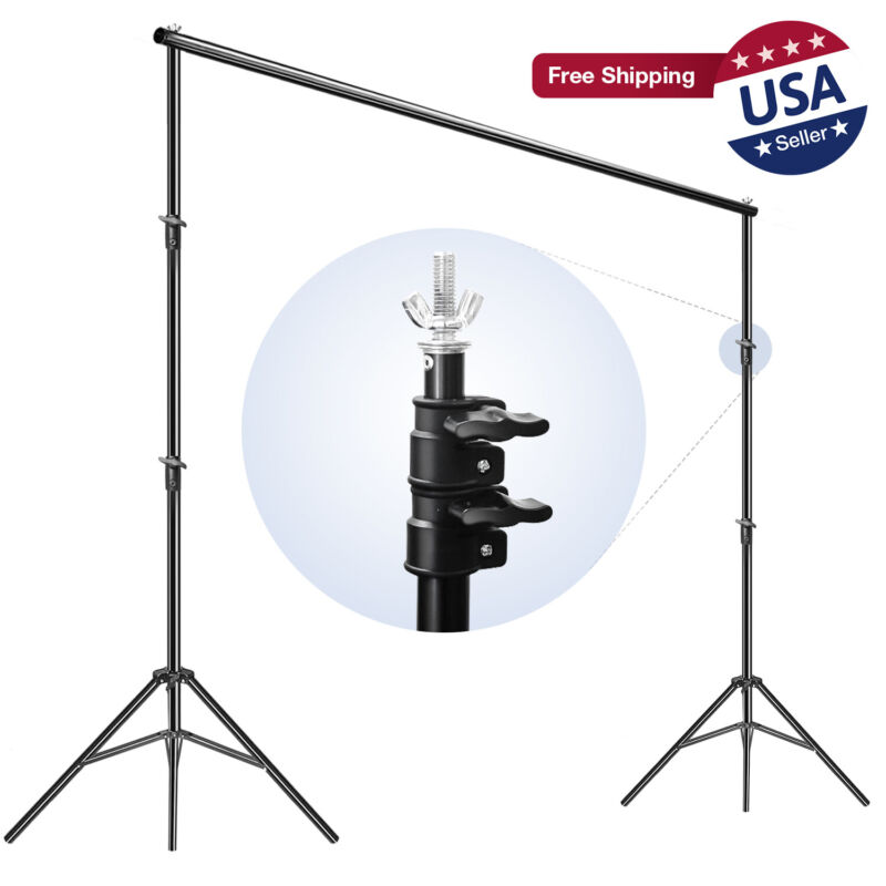 Photography Backdrop Background Support Stand Kit With Case Photo Video Studio