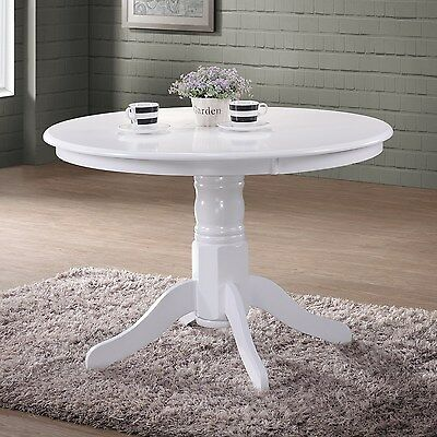 Rhode Island Round White Table RHD010