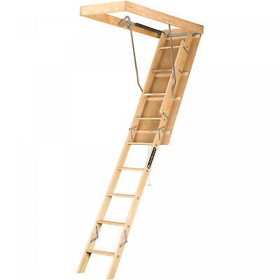 Attic Ladder Pull Down Folding Stairs Wood Steps Ceiling Door Access Louisville Fold Down Door