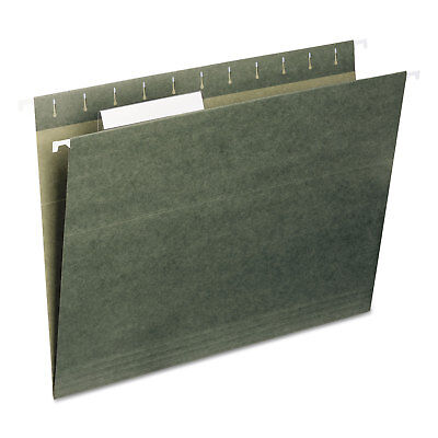 Smead Hanging Folders 13 Tab 11 Point Stock Letter Green 25box 64035