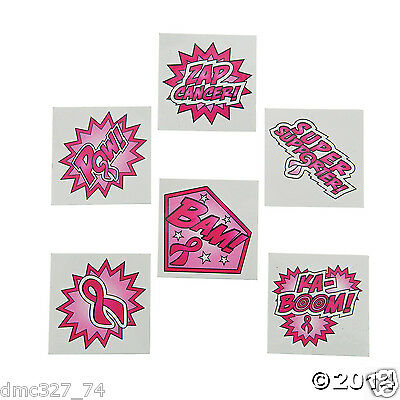 72 PINK RIBBON Breast Cancer Awareness Event Favors SUPERHERO - Breast Cancer Awareness Favors