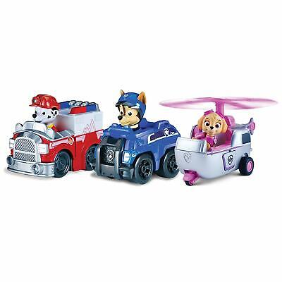 Paw Patrol Racers 3-Pack Vehicle Set, Rescue Marshall, Spy C