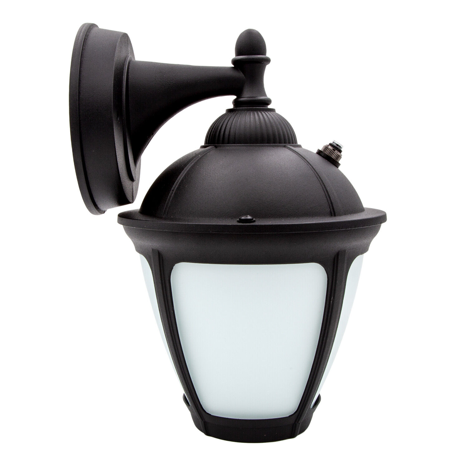Frosted Glass 650 Lumens Dusk to Dawn Sensor Maxxima LED Outdoor Wall Light