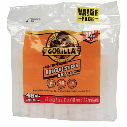 Gorilla 3034502 Hot Glue Sticks 4 In. Full Size, 45Count FAST FREE SHIPPING!